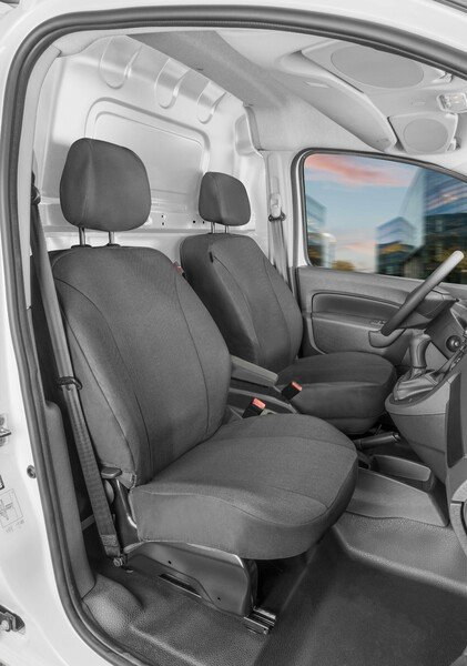 Autoschonbezug Transporter aus Stoff für Ford Transit Courier 2, 2 Einzelsitze vorne