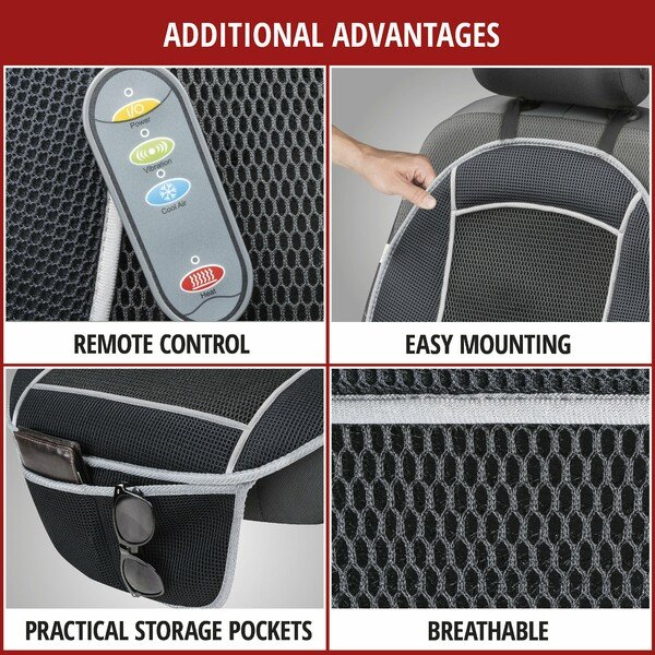 Heating Pad, Seat Heating Car Seat Cool Heat with massage function black