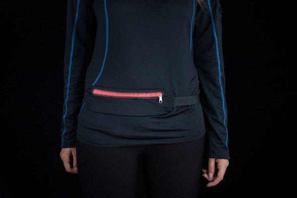 LED belt bag black-red