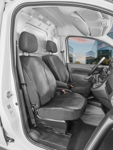 Autoschonbezug Transporter aus Kunstleder für Ford Transit Courier, 2 Einzelsitze vorne