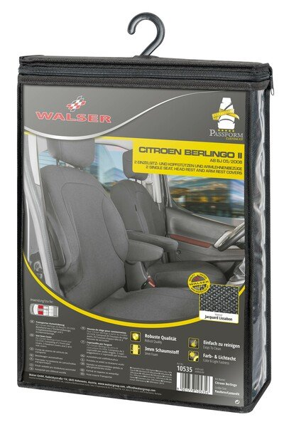 Car Seat cover Transporter made of fabric for Citroen Berlingo, 2 single seats front