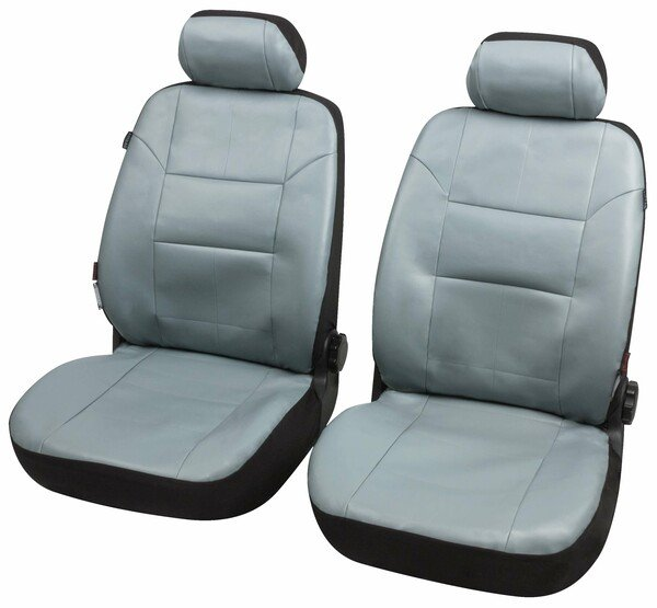ZIPP IT Housses de sièges Grenade pour deux sièges avant avec système de fermeture éclair anthracite