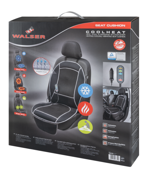 seat heating car Seat cover Cool Heat with massage black