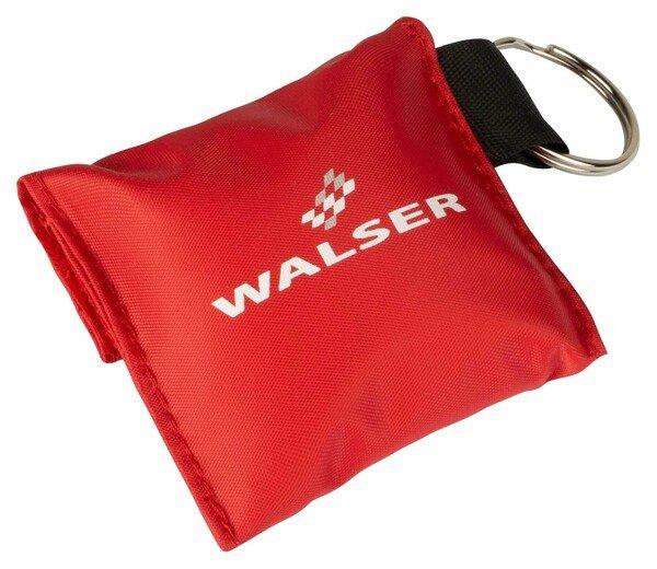 Porte-clés WALSER avec réanimateur et gants jetables rouges