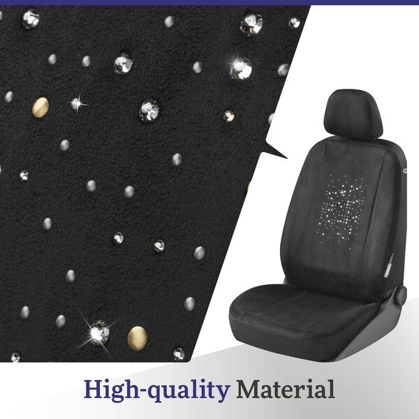 Car Seat cover Angelina decorated with Swarovski® crystals for a front seat