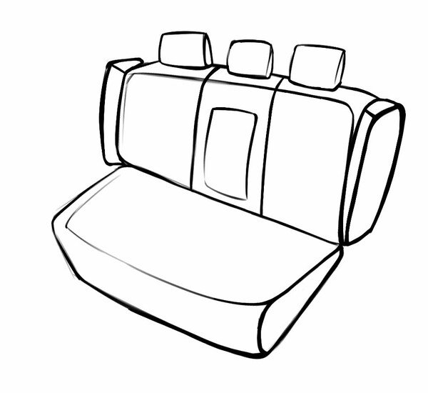 Seat cover Aversa for BMW X1 (E84) 03/2009-06/2015, 1 rear seat cover for normal seats