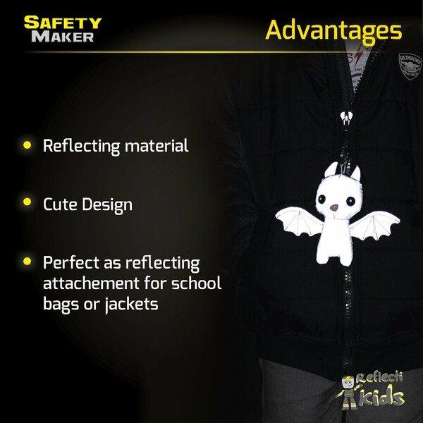 Safety Maker Soft Pendant Batty silver reflective