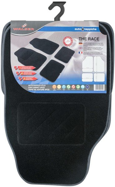 Tapis de voiture The Race noir / blanc