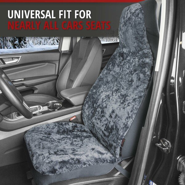 Car Seat cover Zoya in lambskin anthracite with ZIPP IT system for highback seats