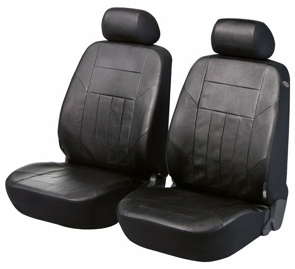 Car Seat cover artificial leather Soft Nappa black for two front seats