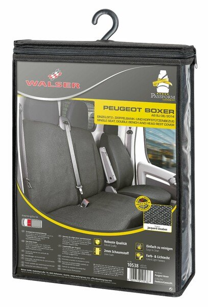 Car Seat covers for Peugeot Boxer single seat and double bench in front made of fabric from year of construction 06/2014 - today