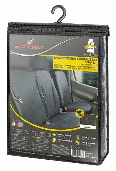 Housse de siège Transporter en simili cuir pour Mercedes-Benz Sprinter, VW LT, siège simple et double