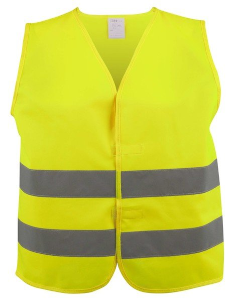 Safety vest size L for adults Yellow EN 20471/2