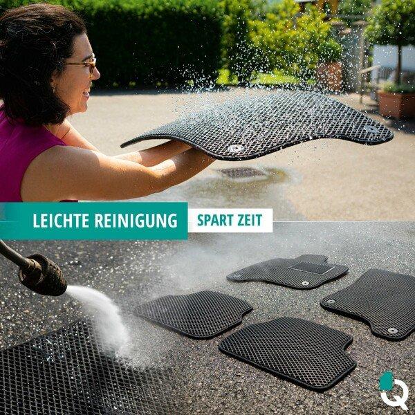Qlean Mats, Gummimatten maßgefertigt für Ihren BMW X1 (F48) 11/2014-Heute, Autofußmatten aus EVA-Material