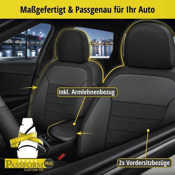 Housse de siège Aversa pour Audi A4 Avant (8W5, 8WD, B9) année 08/2015-aujourd'hui, 2 housses de siège pour sièges sport