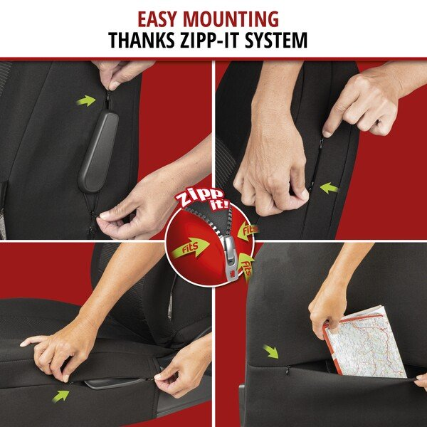 ZIPP IT Premium Esprit Car Seat covers for highback front seats with zip system