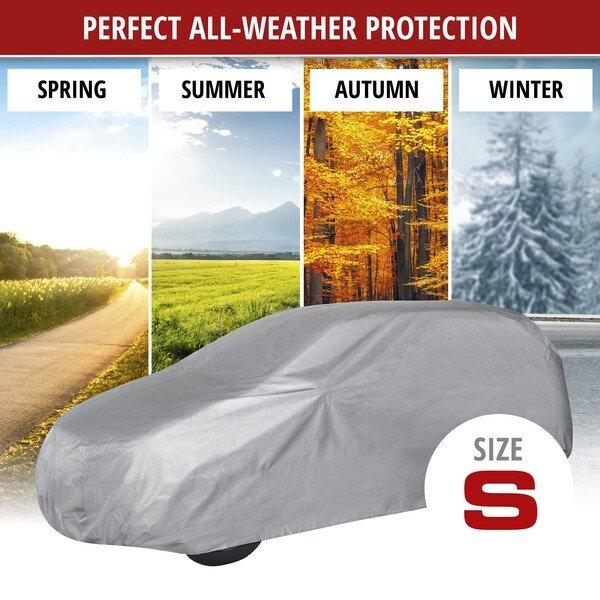 Car tarpaulin All Weather Light SUV full garage size S light grey