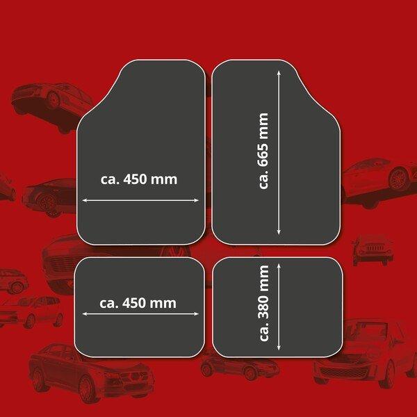 Auto Gummimatten Metallic Riffelblech look carbon maxi