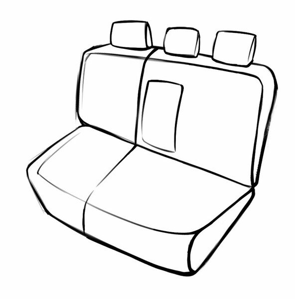 Seat cover Bari for Ford Focus 2012 until Today - 1 rear Seat cover