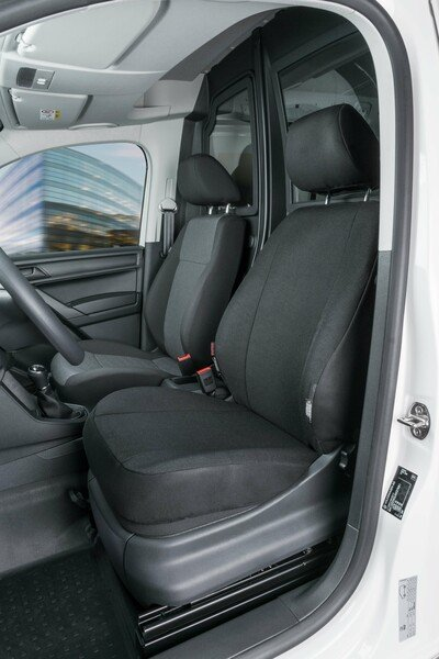 Car Seat covers for VW Caddy single front seat made of fabric from model year 02/2004 - today
