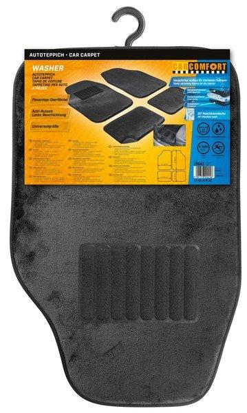 Autoteppich Washer 8mm Velours 4tlg. schwarz