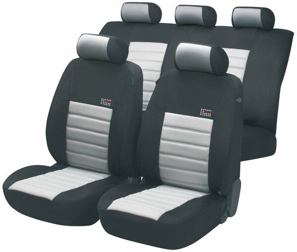 ZIPP IT Premium Sport Speed car Seat covers with zipper system in grey