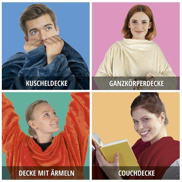 """Kuscheldecke """"Snuggle"""" mit Ärmeln"""