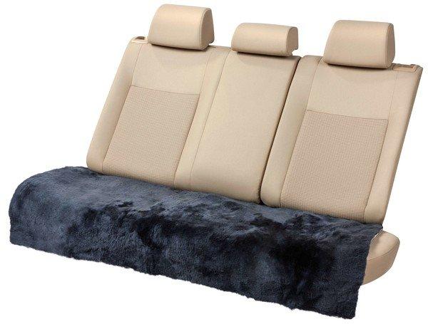 Lammfell Rückbank Sitzauflage Cacey anthrazit 120x60 cm