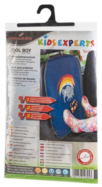 Car seat backrest protection Cool Boy blue