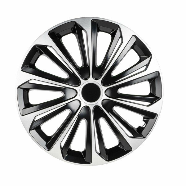 """Wheel covers New Racer 15"""", 4 piece black/silver"""