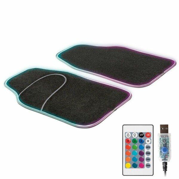 Tappeto auto LED Ambiente con selezione del colore, varie funzioni di luce e telecomando per l'illuminazione dell'ambiente
