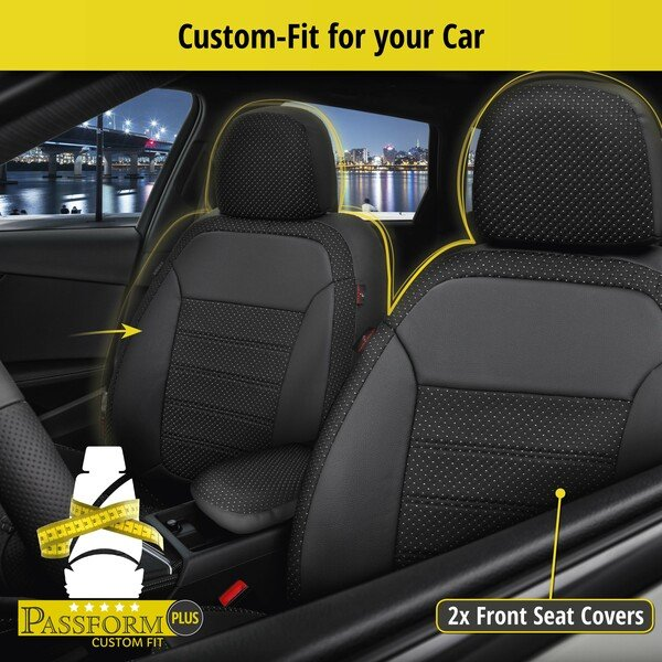Seat cover 'Torino' for Mini Cooper built 2013 to date - 2 Seat covers for normal seats