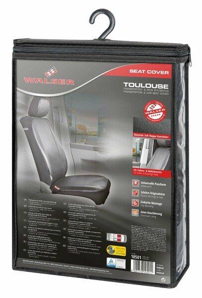 Universal Transportersitzbezug Toulouse für Fahrer- oder Beifahrersitz aus Kunstleder anthrazit