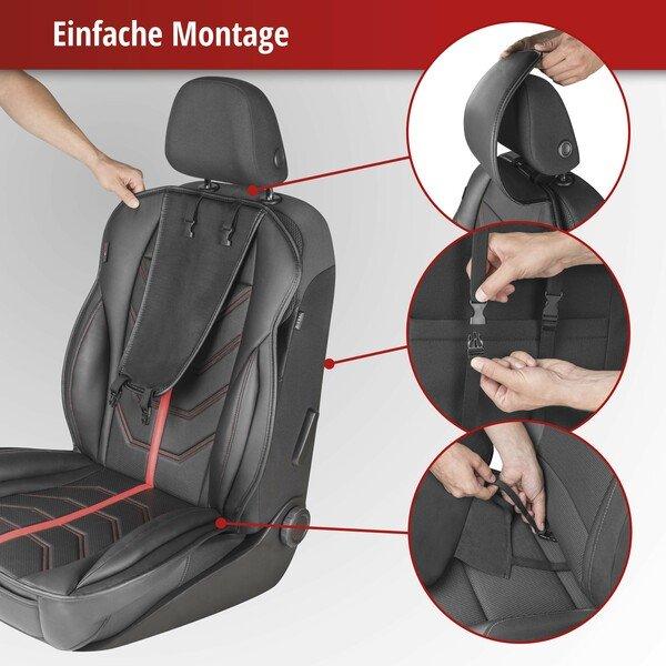 PKW Sitzauflage Kimi rot schwarz