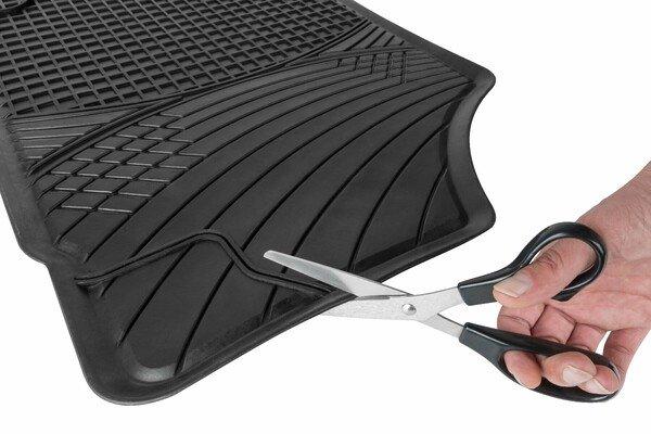 Tapis en caoutchouc Perfect Fit coupé à la taille noir taille 2