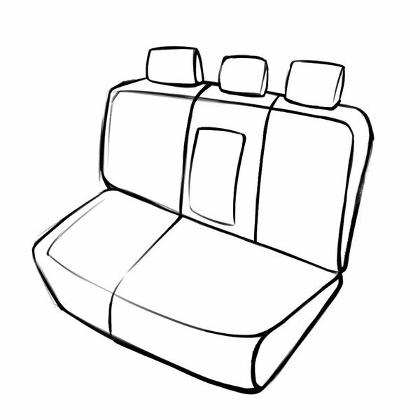 Coprisedili Aversa per Skoda Kodiaq (NS7, NV7) 10/2016 - Oggi, 1 Coprisedili posteriore per sedili normali