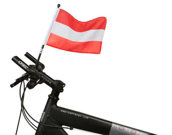 bicycle flag Austria 21 x 16 cm