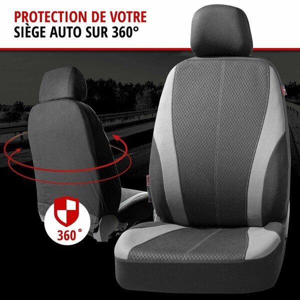 ZIPP IT Housse de sièges Dundee complet avec système de fermeture éclair noir/gris