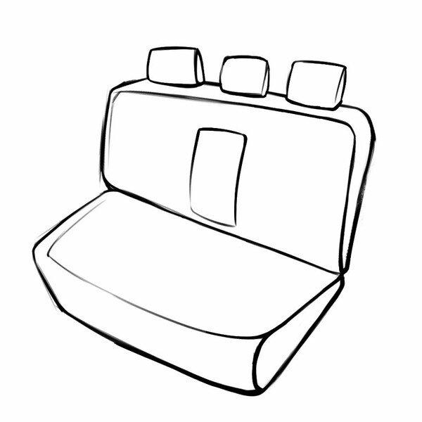 Housse de siège Bari pour Mercedes-Benz Classe E (W124) 02/1993-06/1996, 1 housse de siège arrière pour les sièges normaux