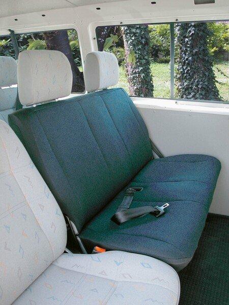 Housse de voiture en polyester compatible avec VW T4, banquette double à l'arrière