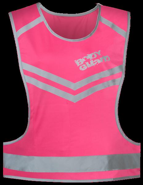 Gilet da corsa con riflettore rosa - Taglia S/M