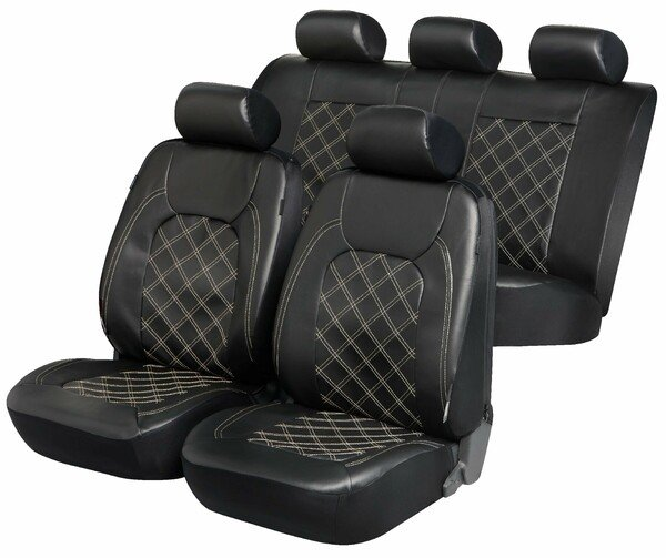 ZIPP IT Deluxe Paddington Autositzbezüge aus Kunstleder mit Reissverschluss System