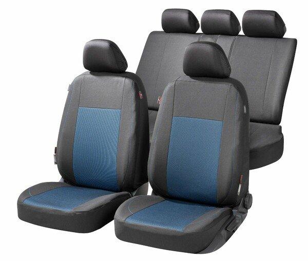 ZIPP IT Premium Autositzbezüge Ardwell Komplettset mit Reißverschluss-System schwarz/blau