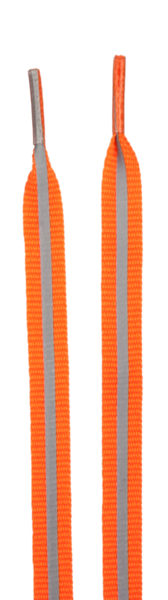 Shoelaces with Reflective Stripes orange