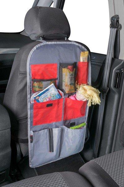 car seat children organizer back seat bag Sunny red/grey