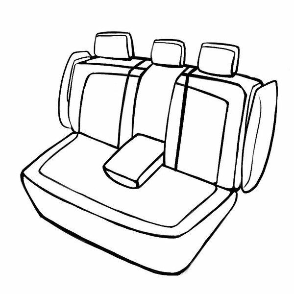Coprisedili Robusto per Audi A4 Avant (8W5, 8WD, B9) 08/2015 - Oggi, 1 Coprisedili posteriore per sedili sportivi