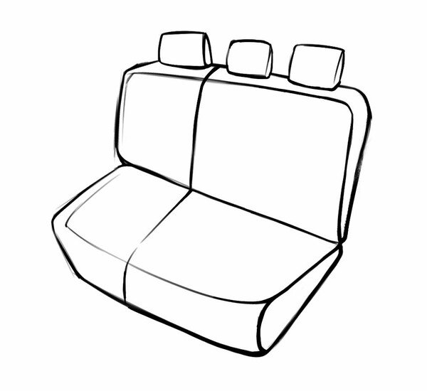 Passform Sitzbezug Robusto für Focus 07/2010-Heute, 1 Rücksitzbankbezug für Normalsitze Trend/TrendXStyle Austattung