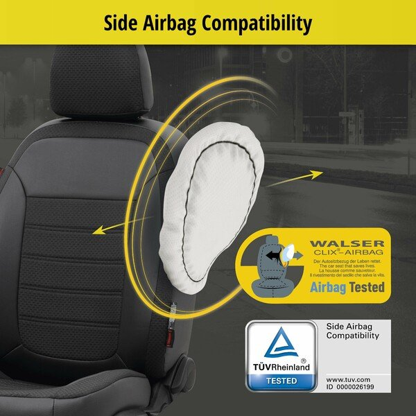Custom-Fit car seat cover 'Expedit' for Audi A3 from 2012 to present - 2 single seat covers for standard seats