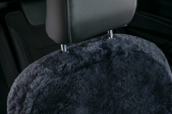 Car Seat cover Shauna double cap lambskin anthracite with ZIPP IT system