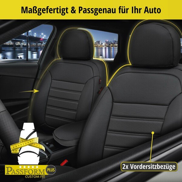 Passform Sitzbezug Robusto für Dacia Sandero Baujahr 06/2008-Heute, 2 Einzelsitzbezüge für Normalsitze